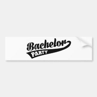 Bachelor Party Bumper Sticker
