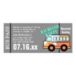 Bachelor Party Bus Pass Orange Card