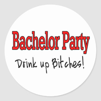 Bachelor Party Classic Round Sticker