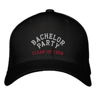 Bachelor Party, Clean-up Crew, Best Man Embroidered Hats
