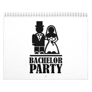 Bachelor Party couple Wall Calendar
