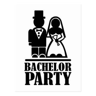 Bachelor Party couple Postcards