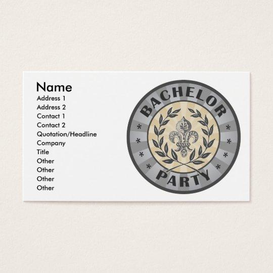 Bachelor Party Crest Design Business Card