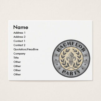 Bachelor Party Crest Design Business Card