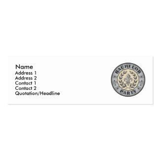 Bachelor Party Crest Design Mini Business Card