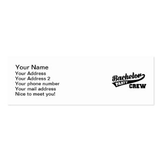 Bachelor Party Crew Double-Sided Mini Business Cards (Pack Of 20)