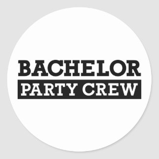 Bachelor Party Crew Classic Round Sticker