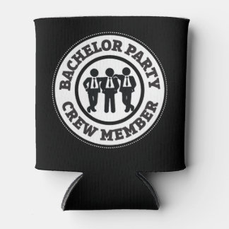 Bachelor Party Crew Member Favors Can Cooler