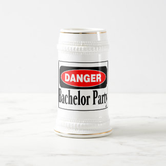 Bachelor Party Danger 18 Oz Beer Stein