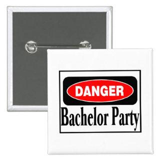 Bachelor Party Danger Pinback Button