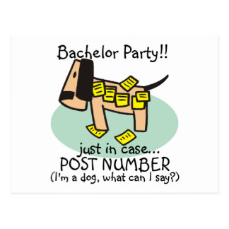 Bachelor Party Dog T-shirts and Gifts Postcard