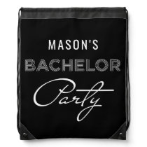 Bachelor Party Drawstring Backpack