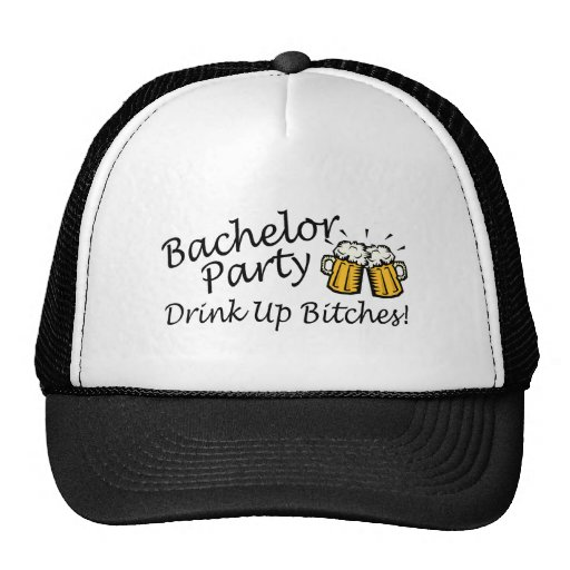 Bachelor Party (Drink Up Bitches Beer Jugs) Trucker Hat