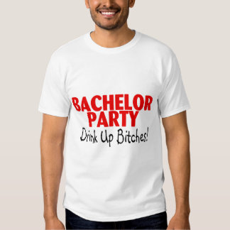 Bachelor Party Drink Up Red Black Shirt
