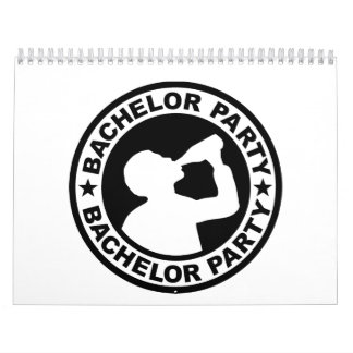 Bachelor Party drinking Wall Calendars