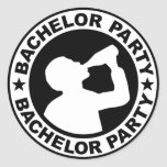 Bachelor Party drinking Classic Round Sticker