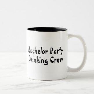 Bachelor Party Drinking Crew Two-Tone Coffee Mug