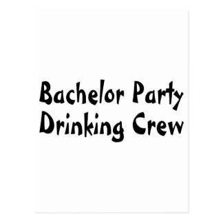 Bachelor Party Drinking Crew Postcards