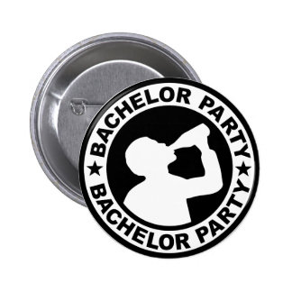 Bachelor Party drinking Pinback Button