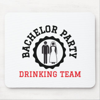 bachelor party drinking team mouse pad