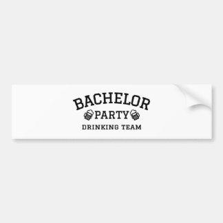 Bachelor party drinking team t-shirt bumper sticker