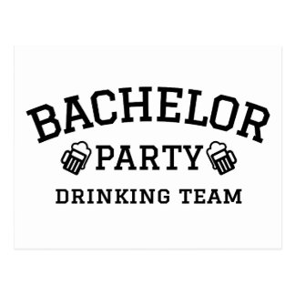 Bachelor party drinking team t-shirt postcard
