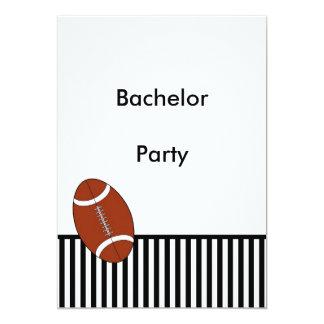 Bachelor Party Football Black White Invitation