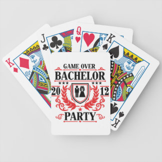 bachelor party game over 2012 bicycle playing cards
