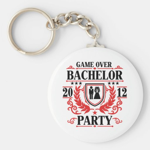 bachelor party game over 2012 keychain