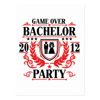 bachelor party game over 2012 post cards
