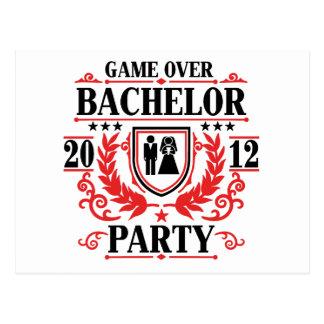 bachelor party game over 2012 postcard