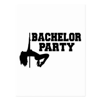 Bachelor Party girl Postcard