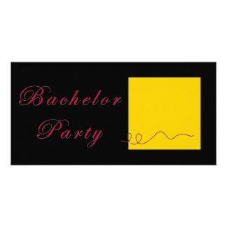 Bachelor Party Gold Ticket Card