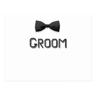 Bachelor Party  Groom With Bow Tie Pink Men Postcard