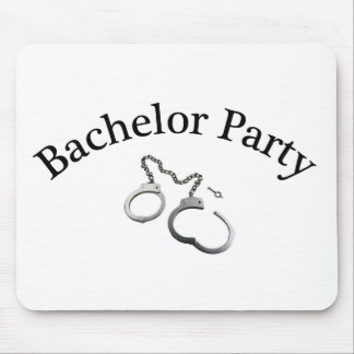 Bachelor Party Handcuffs Mouse Pad