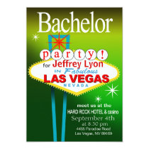 Bachelor Party in Las Vegas Card