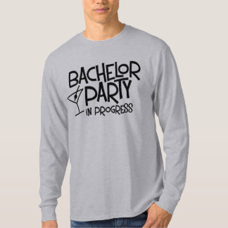 Bachelor Party in Progress Basic Long Slee T-Shirt