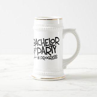 Bachelor Party In Progress Beer Stein 18 Oz Beer Stein