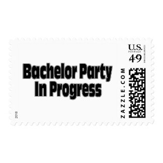 Bachelor Party In Progress (Blk) Stamps
