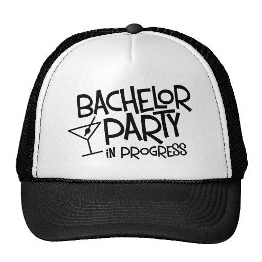 Bachelor Party in Progress Mesh Hat