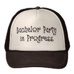 Bachelor Party In Progress Mesh Hats