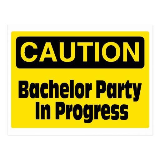 Bachelor Party In Progress Postcard