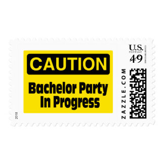 Bachelor Party In Progress Stamp