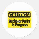 Bachelor Party In Progress Sticker