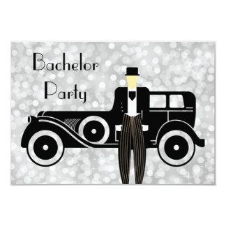 Bachelor Party Invitation Gatsby Vintage Car