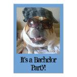 Bachelor Party Invitations Funny English Bulldog