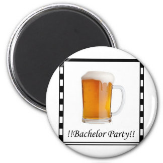 Bachelor party invite - beer 2 inch round magnet