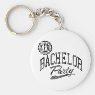 Bachelor Party Basic Round Button Keychain
