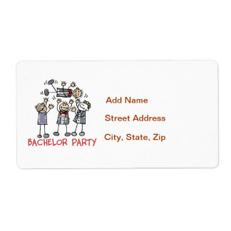 Bachelor Party Label