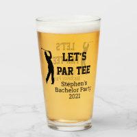 Bachelor Party Let's Par tee Custom Glass